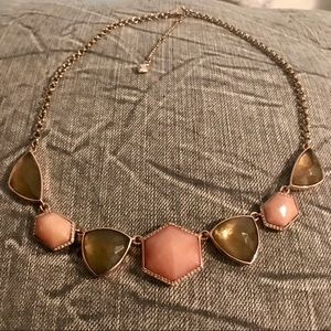 Vera Bradley necklace brown and pink